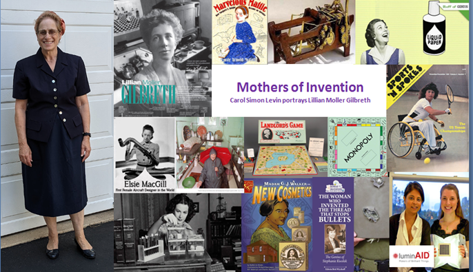 """Carol Simon Levin portrays Lillian Moller Gilbreth in her program """"Mothers of Invention"""""""